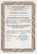 Сертификат программы повышения квалификации аудиторов
